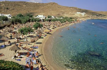 Mykonos Beach and Party Guide • The Blonde Abroad