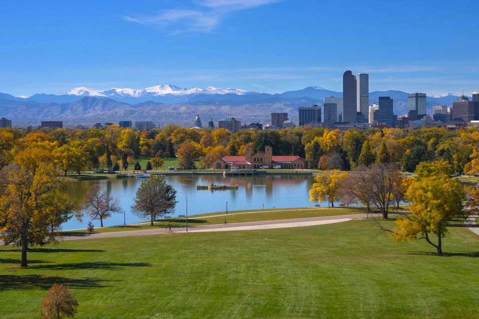 Denver, Colorado overlooking the Rocky Mountains