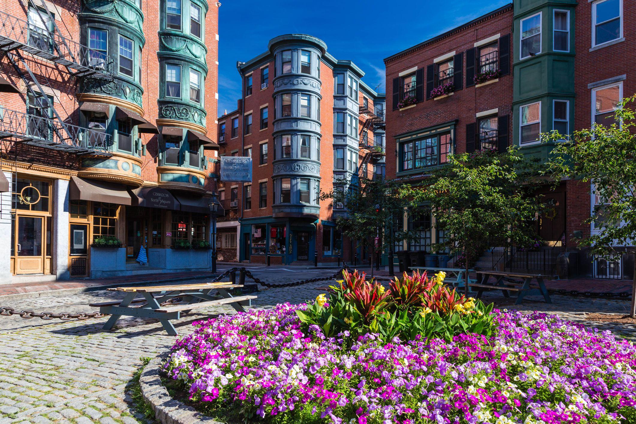 North Square park in North End, Boston