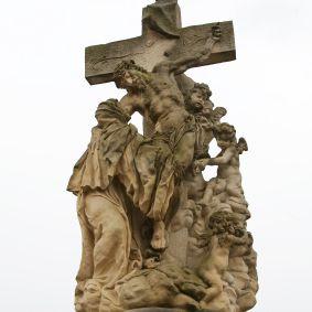 San Lutgard en el Puente de Praga de Praga