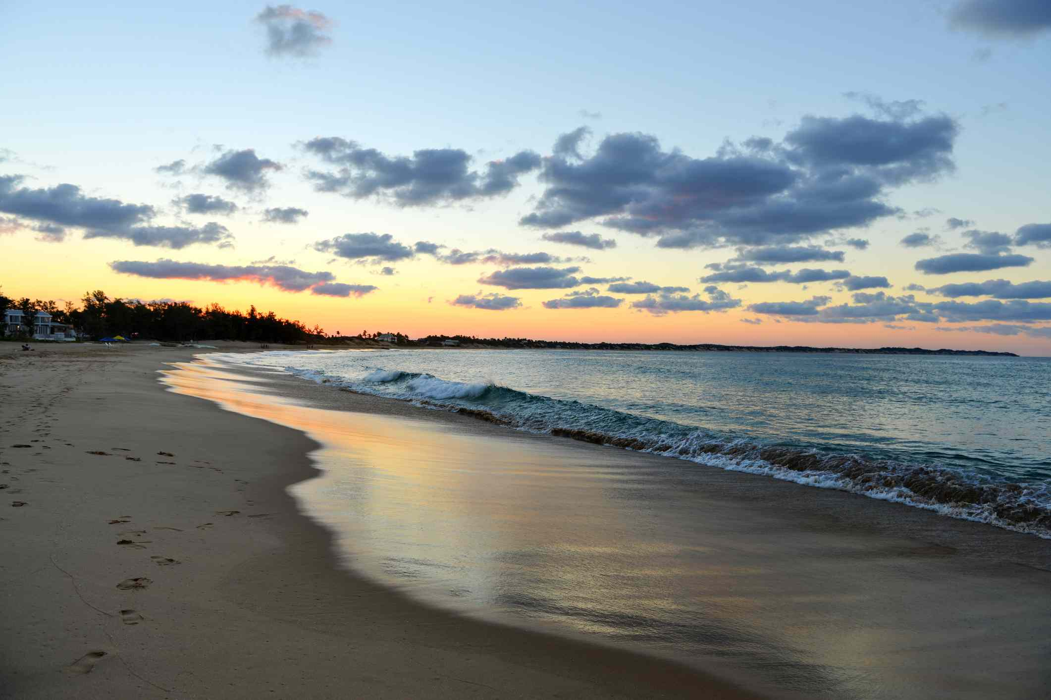 Tofo Beach at sunset in Mozambique