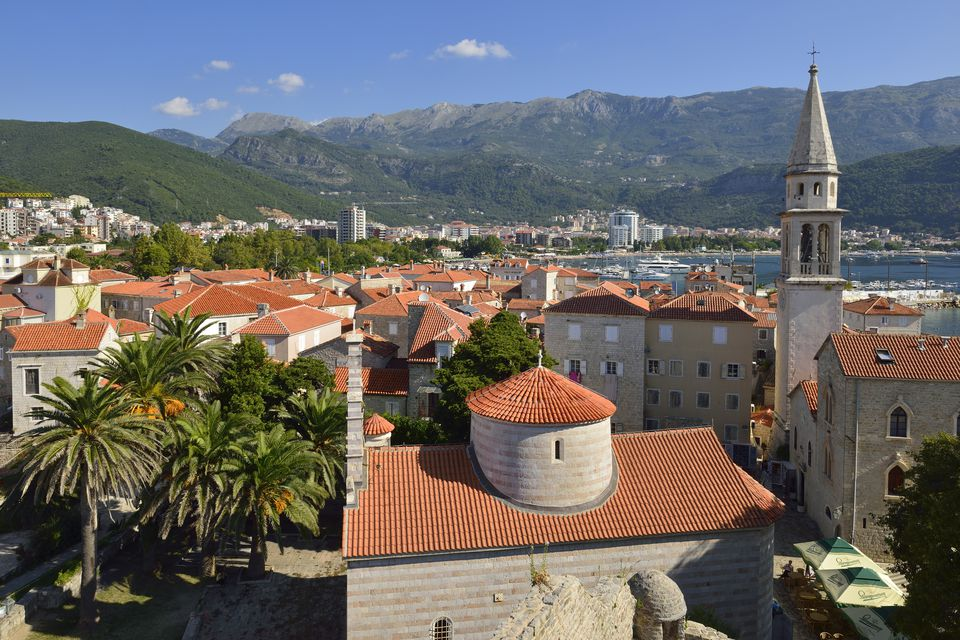 Montenegro, Crna Gora, The Balkans, view over Budva