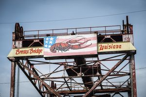 Usa, Louisiana, Lobster Sign; Breaux Bridge