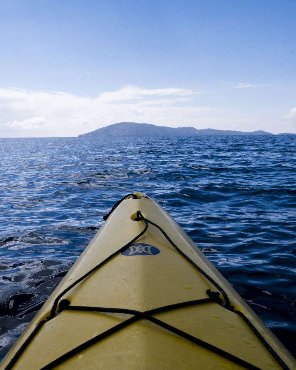 Kayaking on Lake Titicaca
