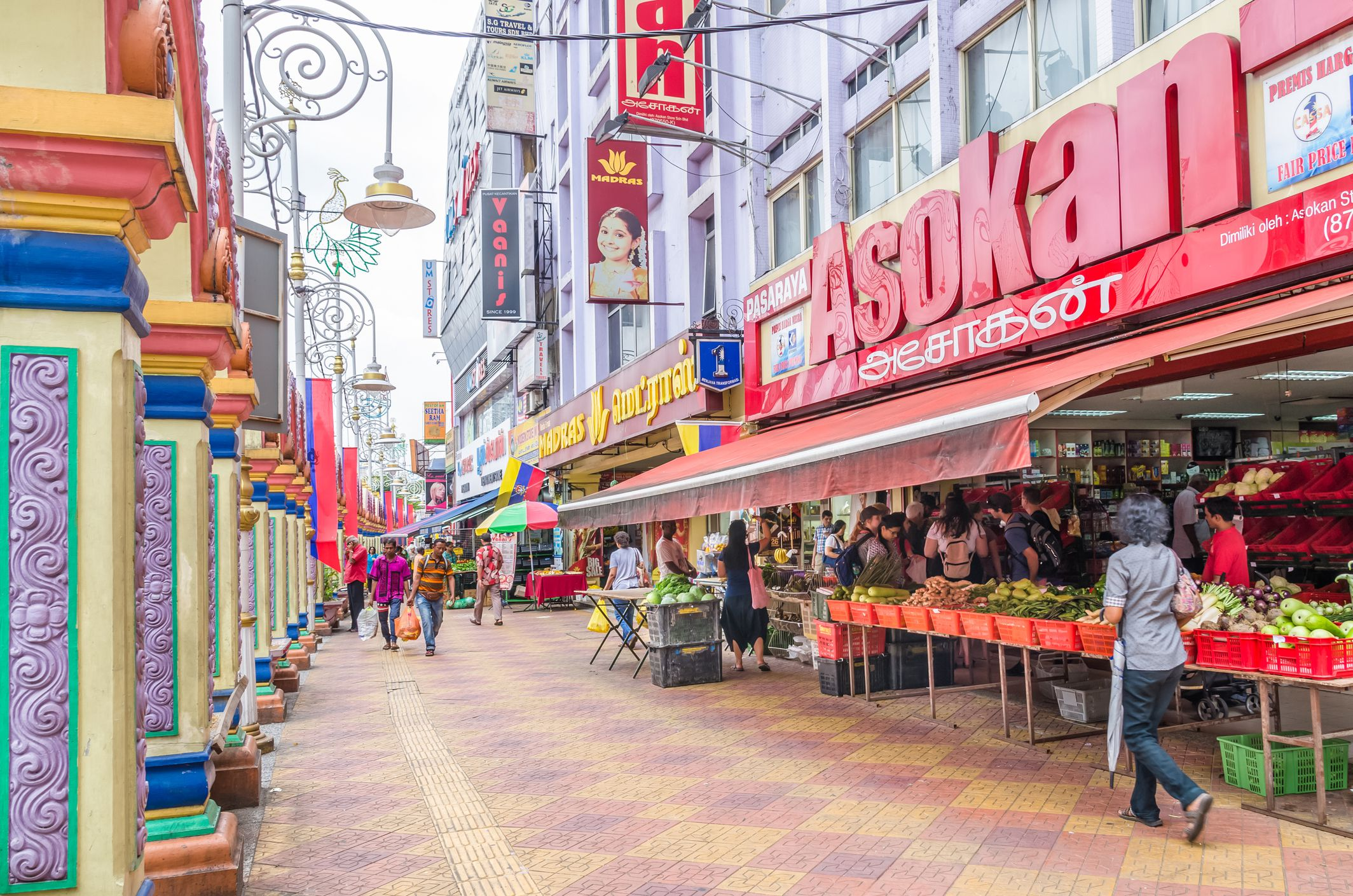 People can seen exploring around Brickfields Little India in KL