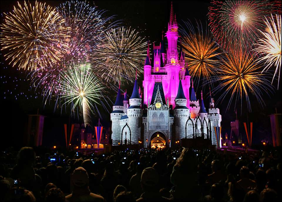 Fireworks at the Magic Kingdom in Walt Disney World