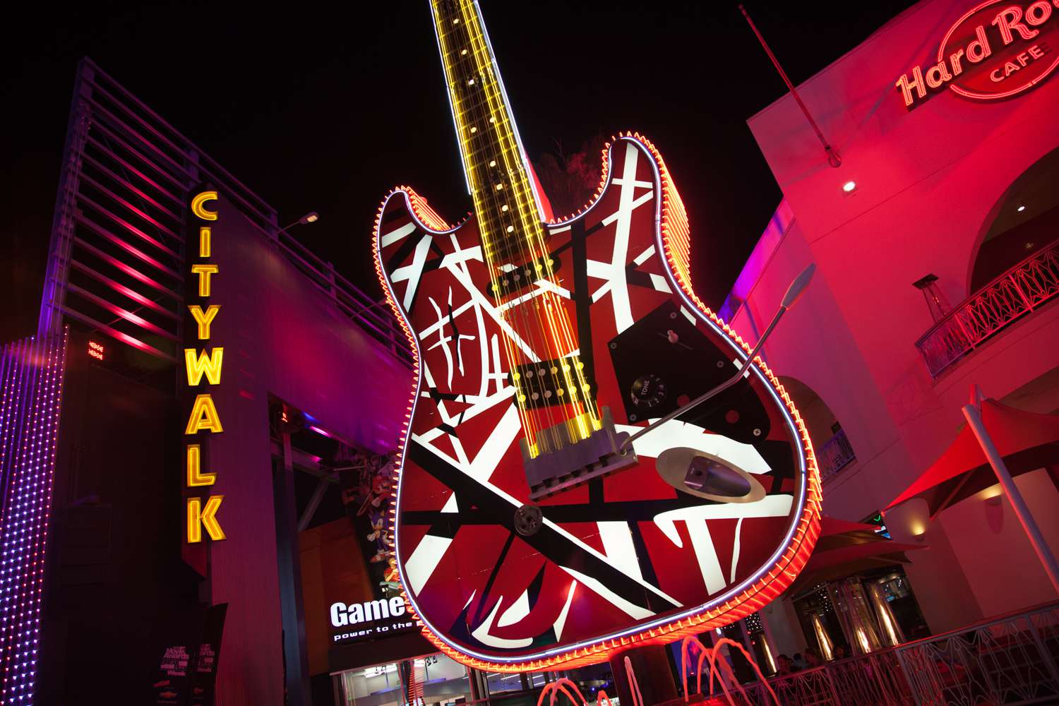 The Giant Guitar at the Hard Rock Cafe on Universal CityWalk in Los Angeles