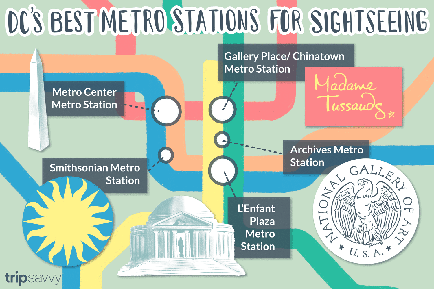Dc Subway Map Square.The Best Metro Stations For Sightseeing In Washington Dc