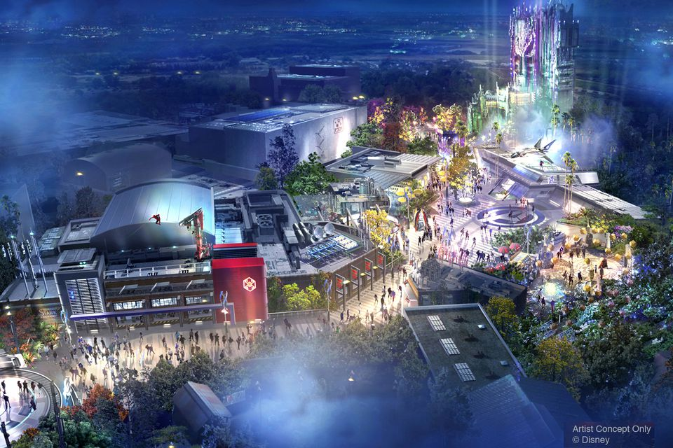 Artist Concept of Avengers Campus at California Adventure