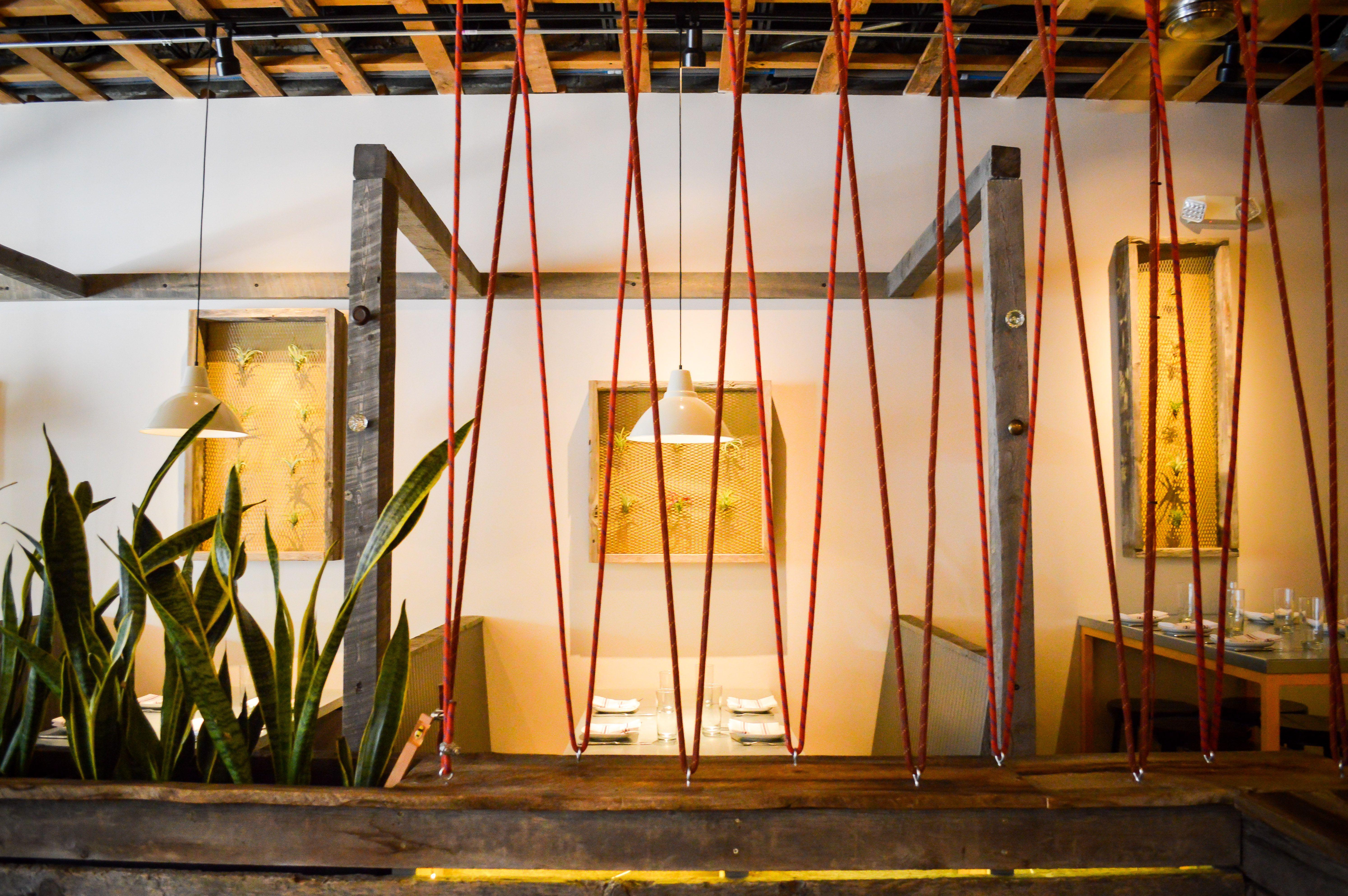 the interior at Abejas