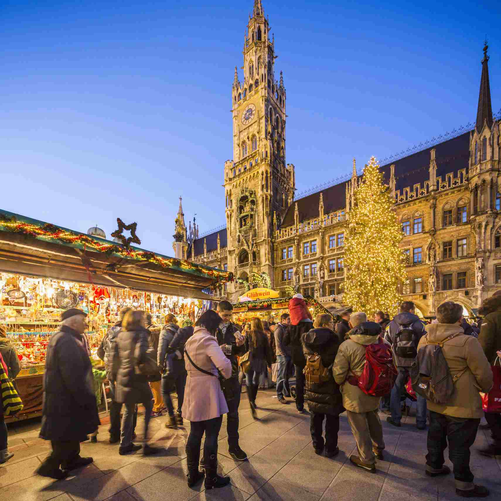 Munich Christmas Market.Holiday Season In Munich