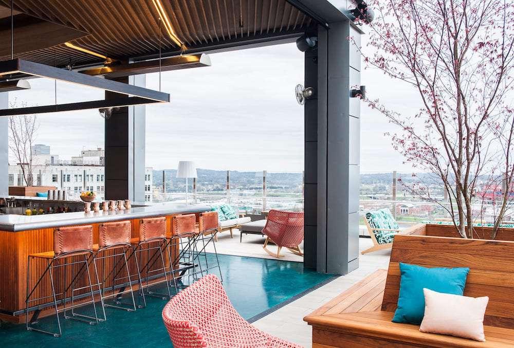 rooftop bar at Noelle, Nashville
