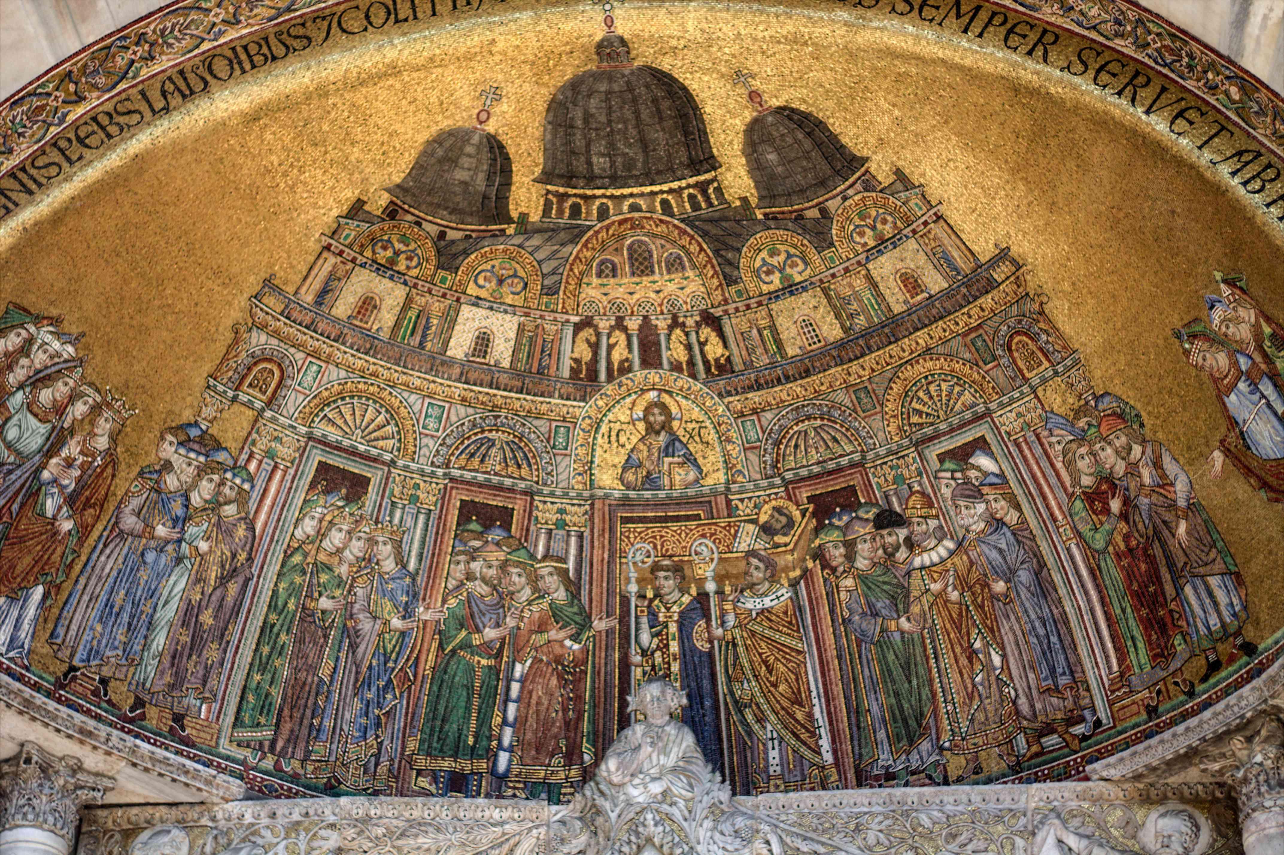 Obra de arte en la Basílica de San Marcos