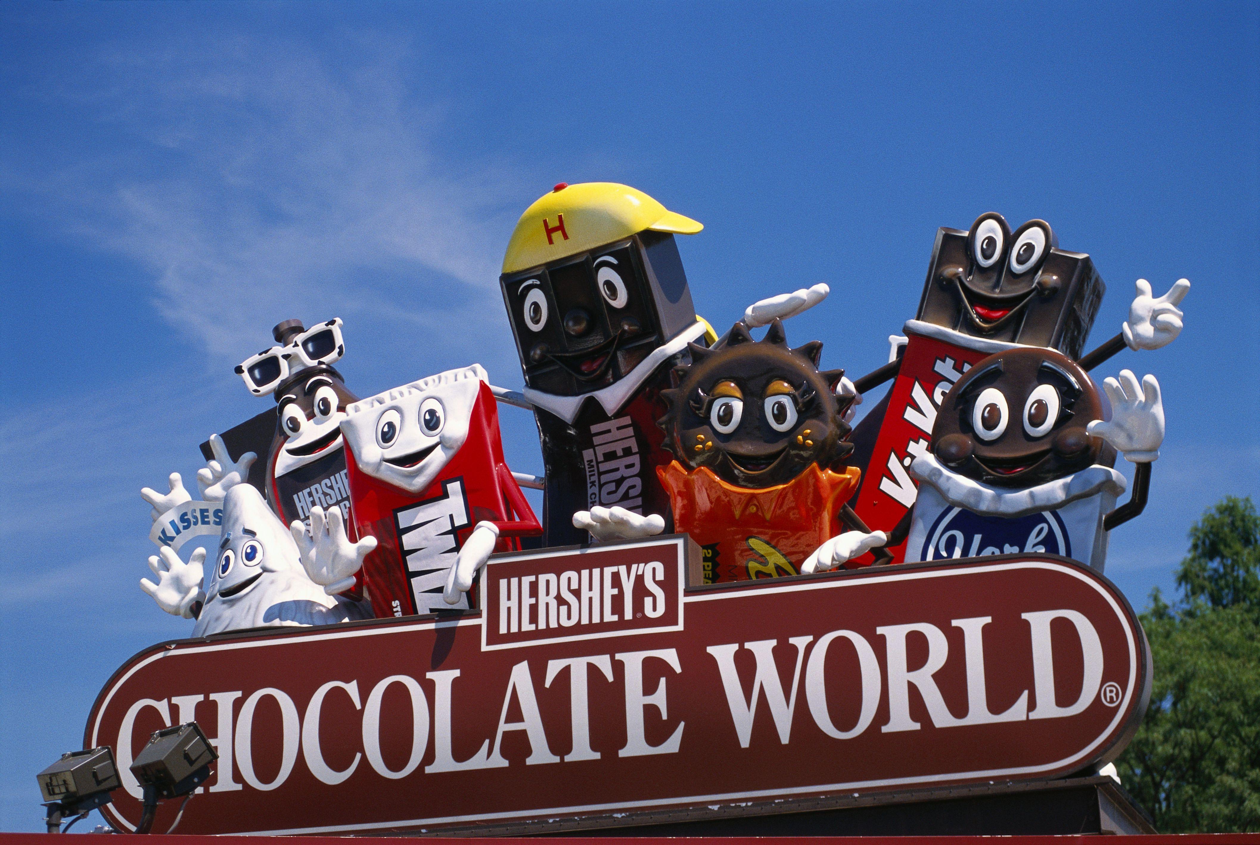 Hersheypark sign for Chocolate World
