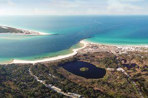 Aerial View of Gulf of Mexico, Panama City Beach