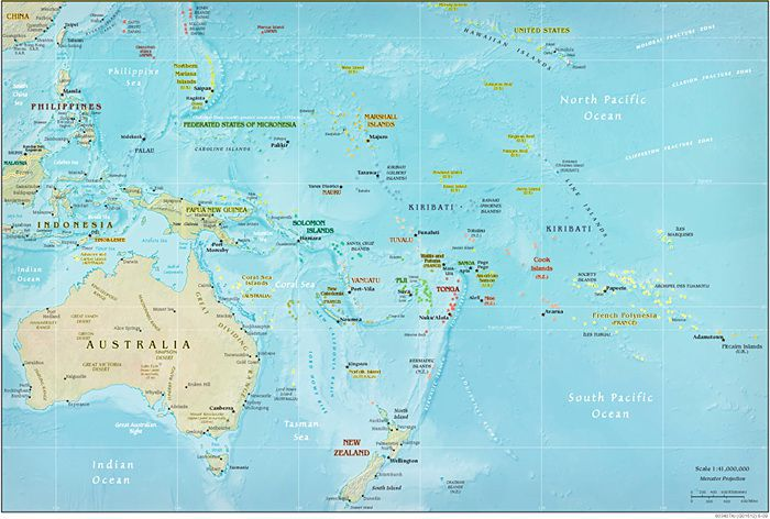 Oceania and the South Pacific Cruise Map