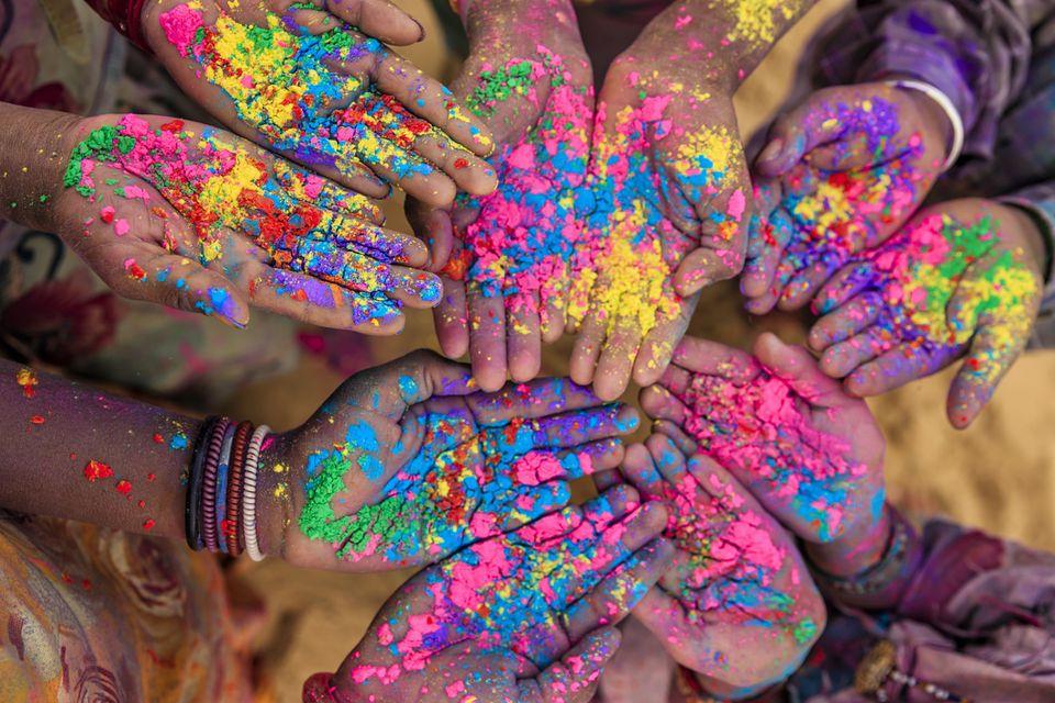 Holi in India.