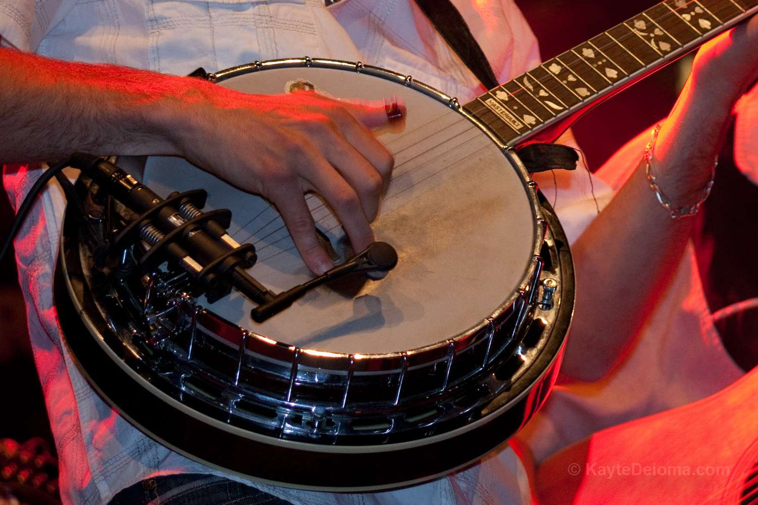 Banjo player on stage