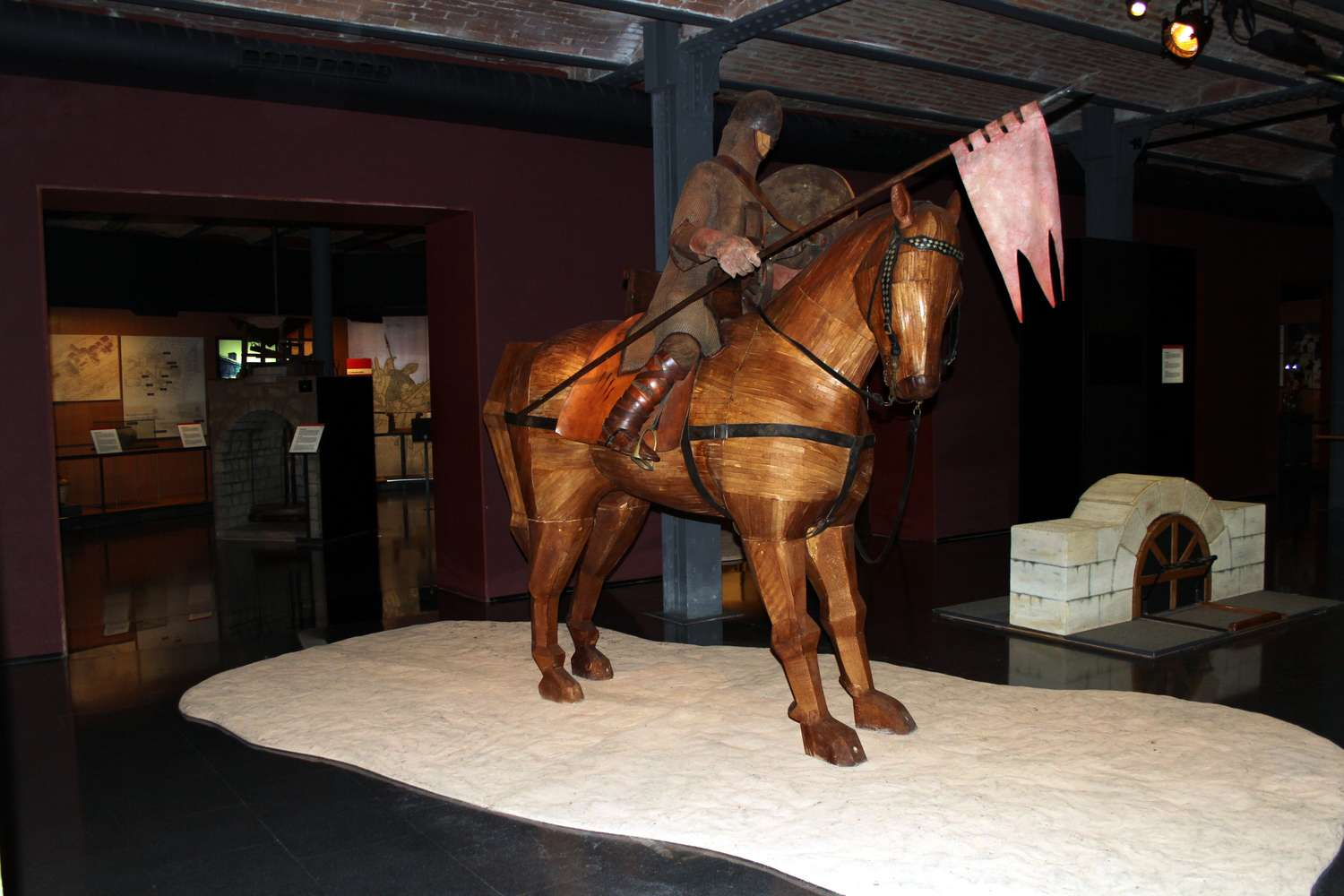 Model of a horseman at the Catalan History Museum in Barcelona.