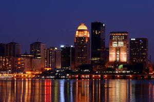 Photo of the Louisville Skyline at Night - Louisville KY