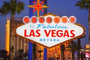 Illuminated Las Vegas sign