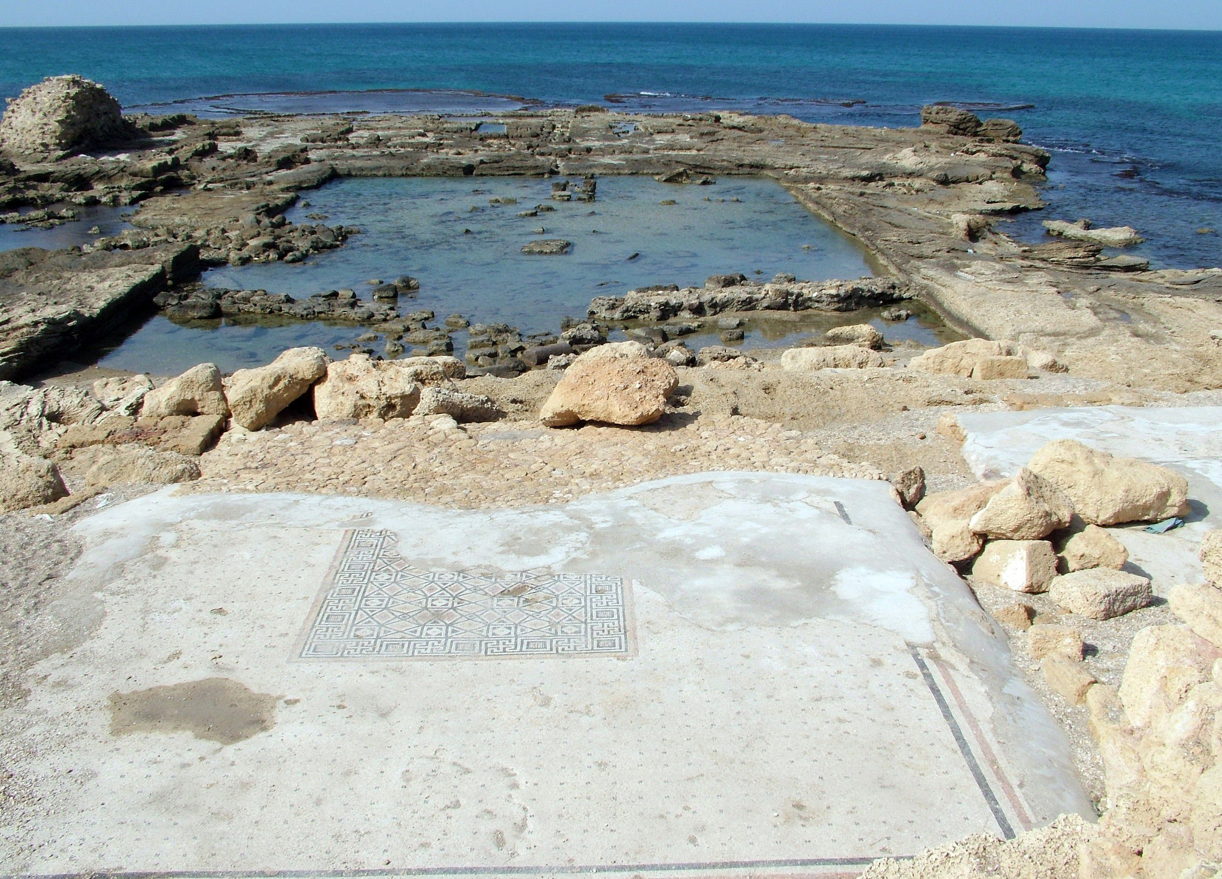 Ancient Caesarea. Lower palace of Herod the Great