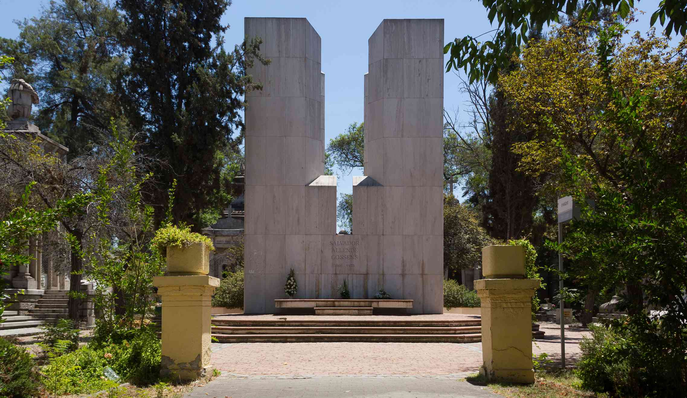 Salvador Allende's tomb, Santiago, Chile