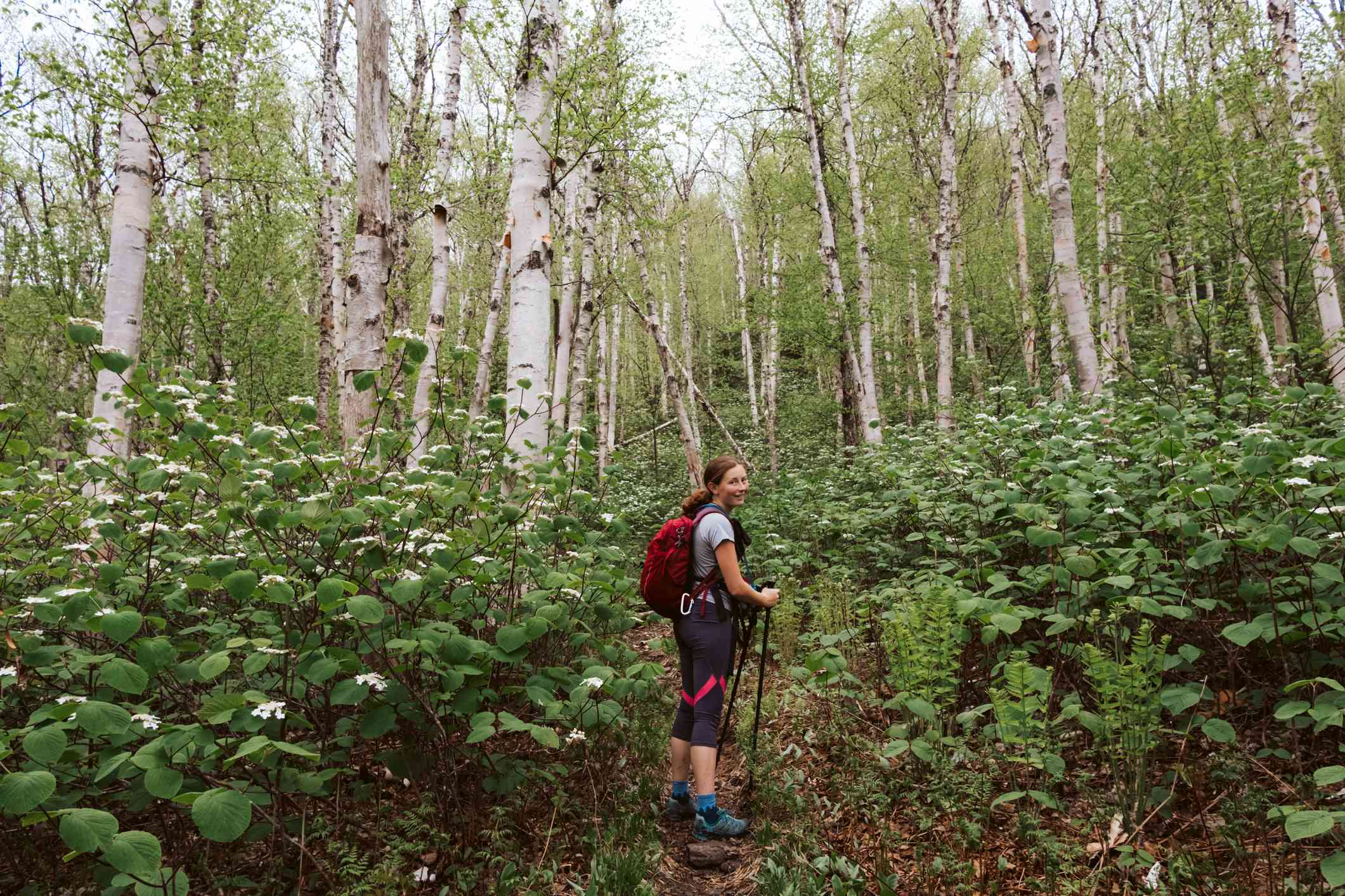 Teenager Hiking in the White Mountains