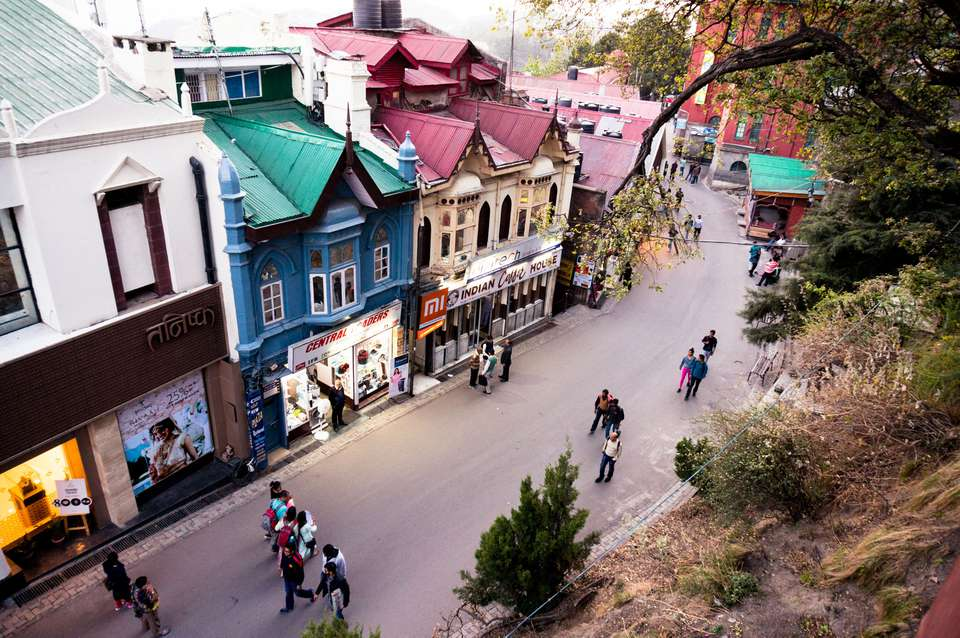 Branded showrooms on the Mall street in Shimla