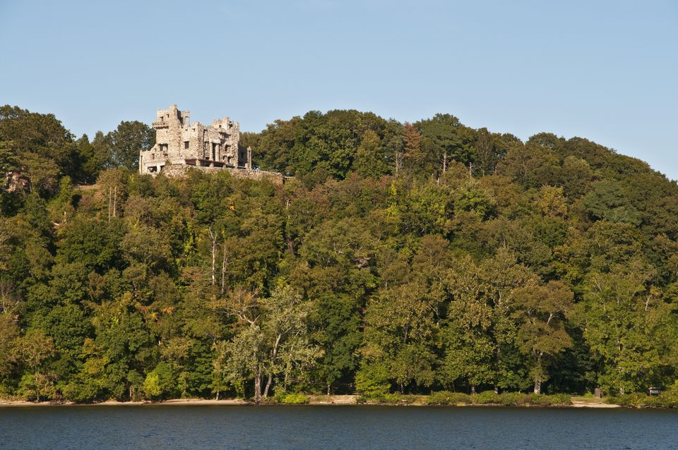 Gillette Castle State Park overlooking Connecticut River.