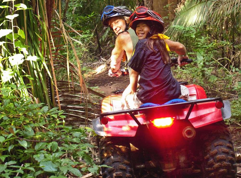 jungle all-terrain vehicle ride
