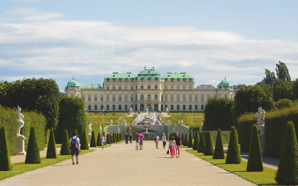 The Belvedere palace and museum in Vienna