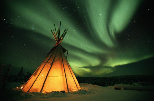 Northern Lights over Great Slave Lake, Northwest Territories