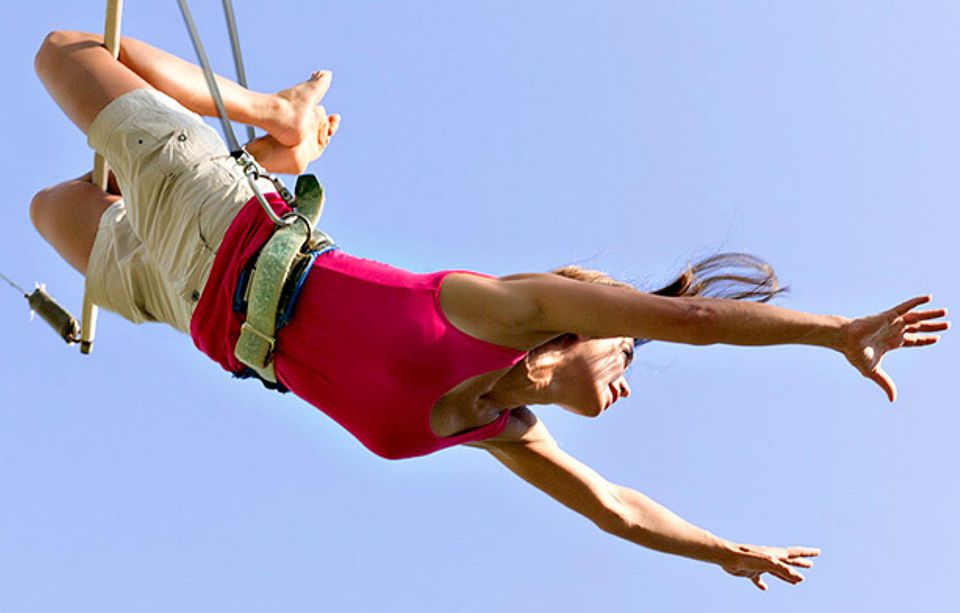 Club Med high flying trapeze