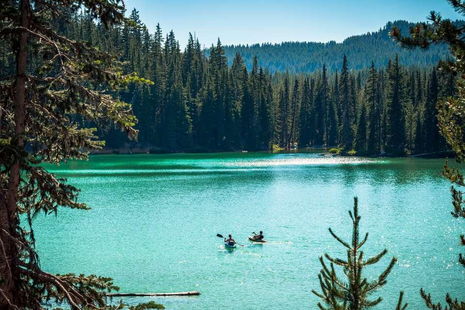 Kayaking on Oregon Lake