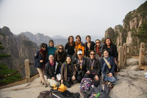 Our thirteen-woman group who traveled from Shanghai to Anhui Province, Huangshan and beyond.