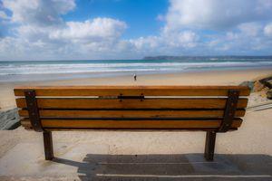 A bench at the beach on Coronado Island