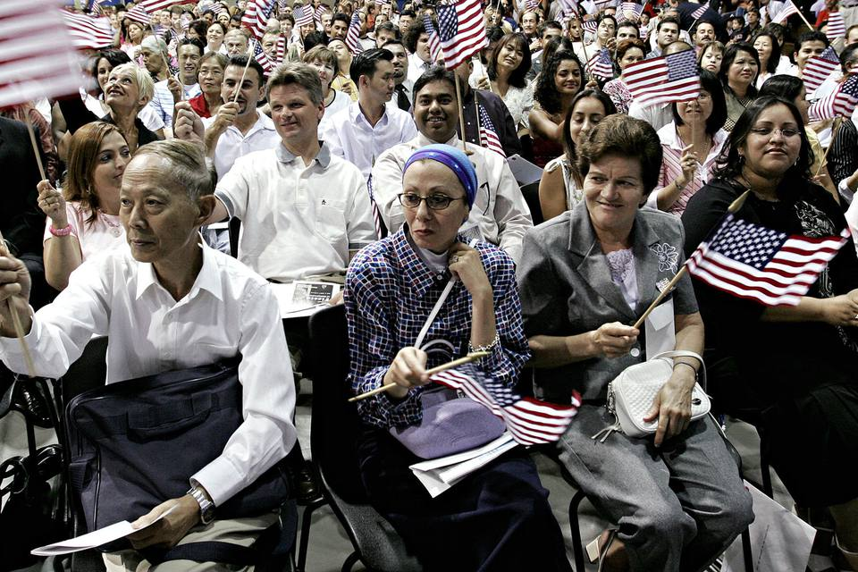 At a Phoenix, AZ Citizenship Ceremony