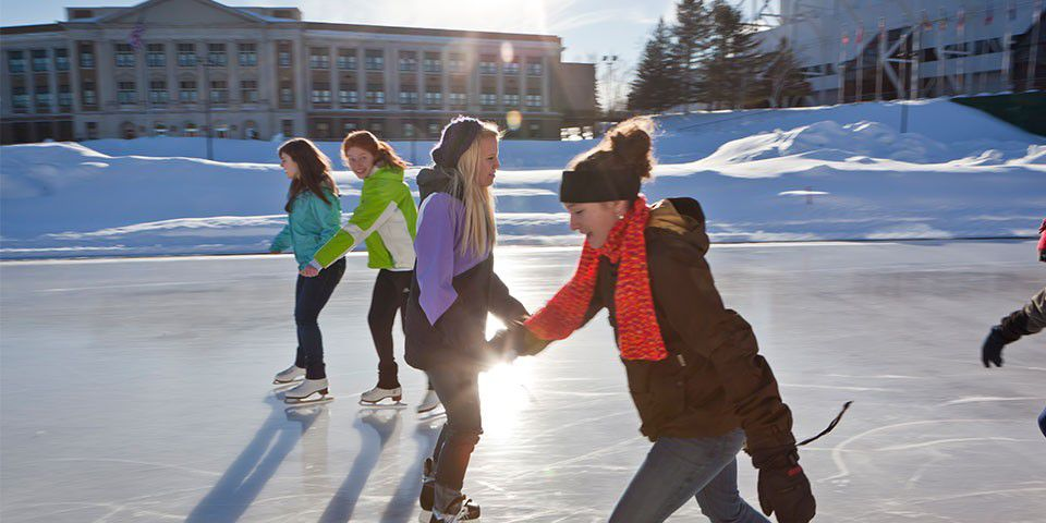 Ice skating at the Olympic Center in Lake Placid