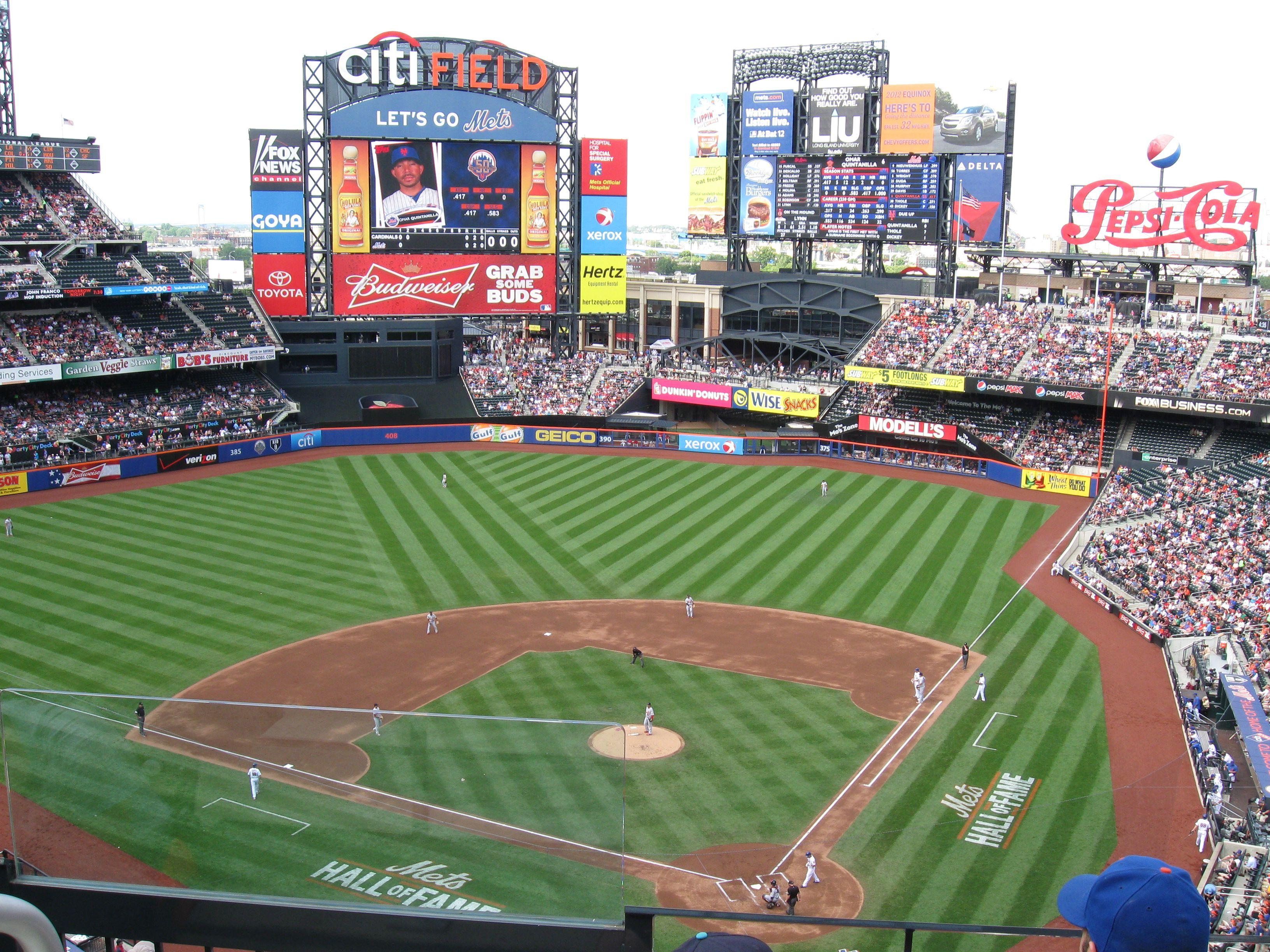 Un juego de Grandes Ligas de Béisbol entre los Mets de Nueva York y los Cardenales de San Luis en el Citi Field, 2 de junio de 2012 .