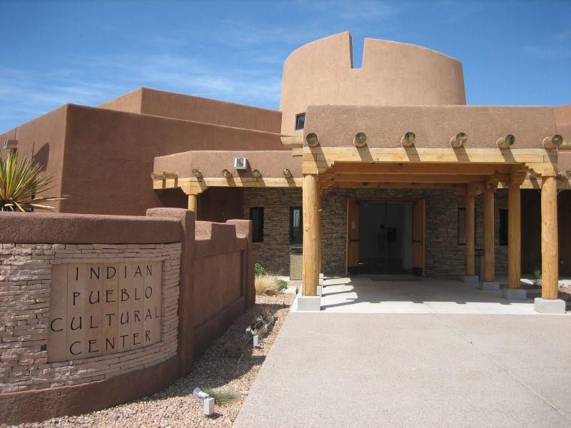 Entrance to Indian Pueblo Cultural Center
