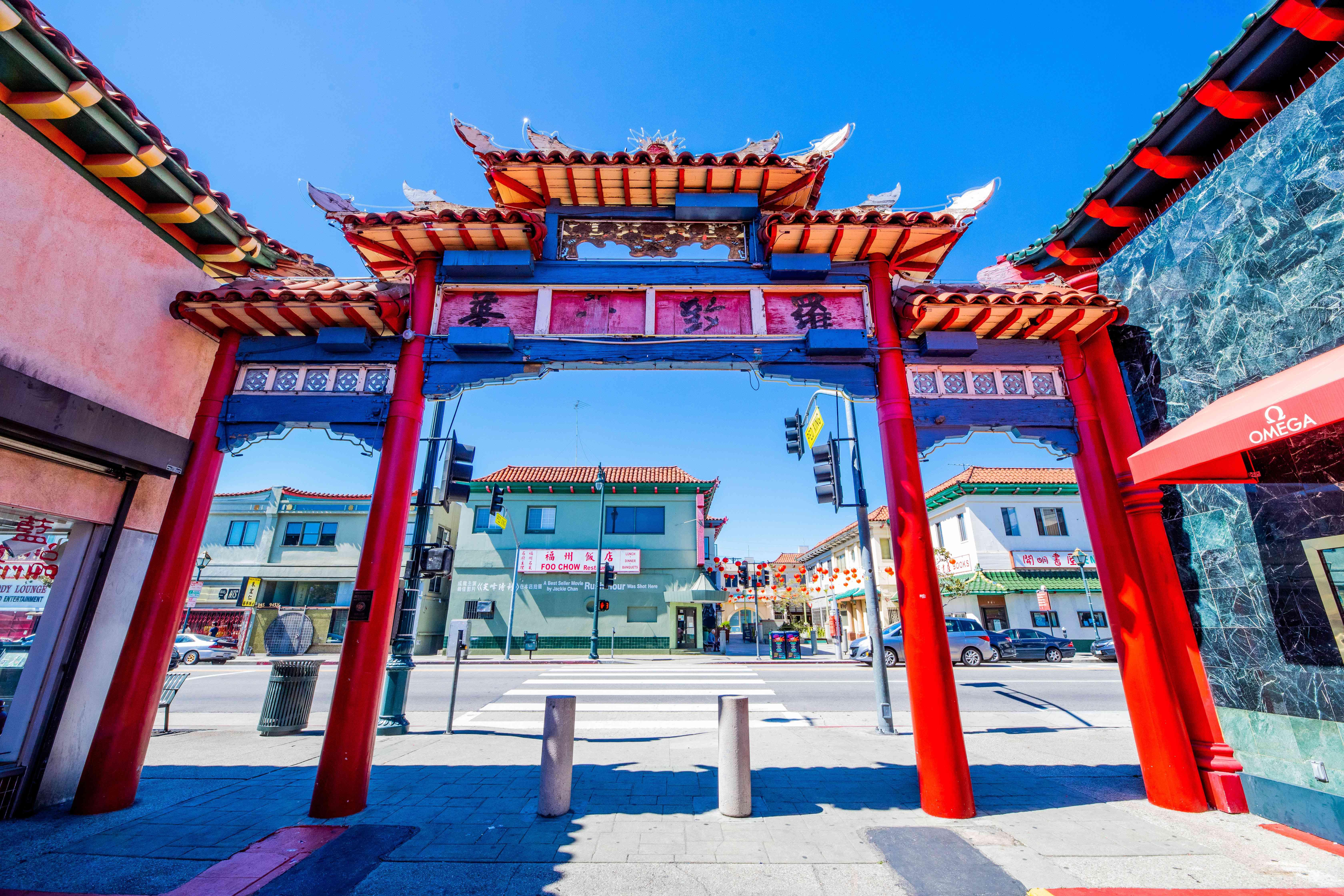 Arches in LA's chinatown