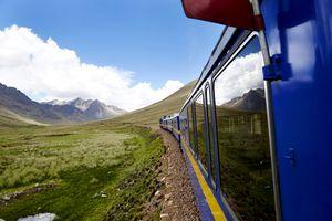 Rail journey in Peru