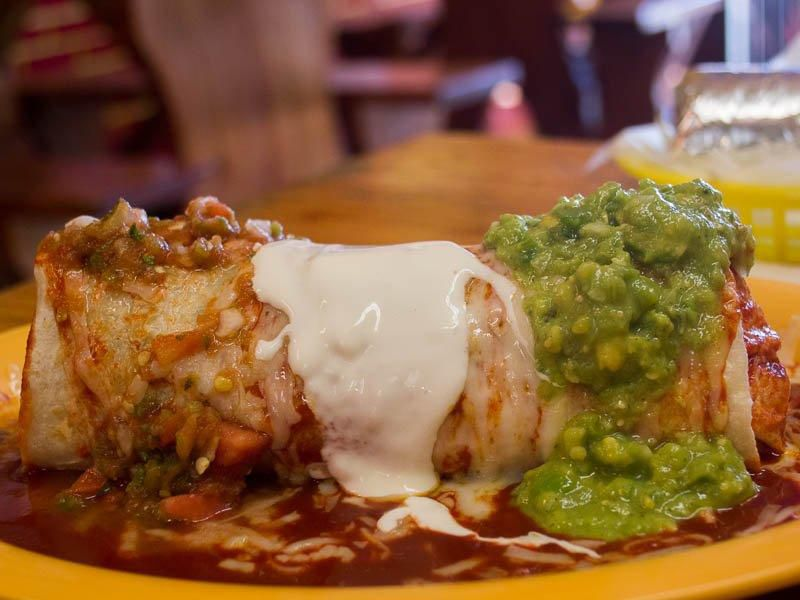 A smothered burrito at Taqueria Cancun