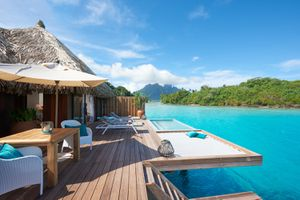 deck of an overwater bungalow