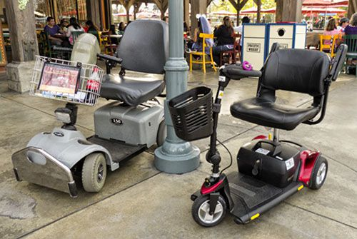 electric scooters at disneyland