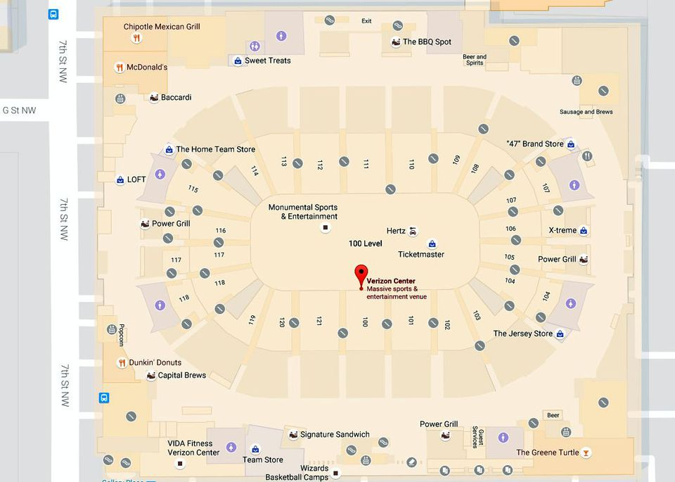 Capital One Arena Maps and Directions: Washington DC