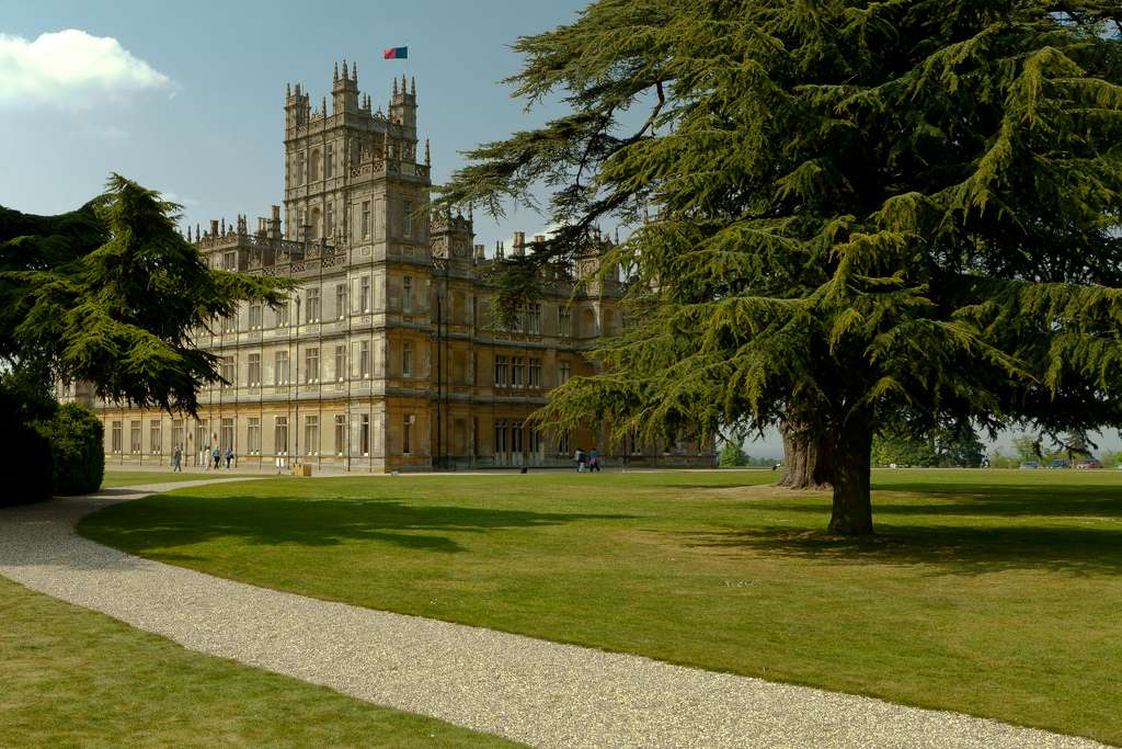 Highclere Castle setting of Downton Abbey