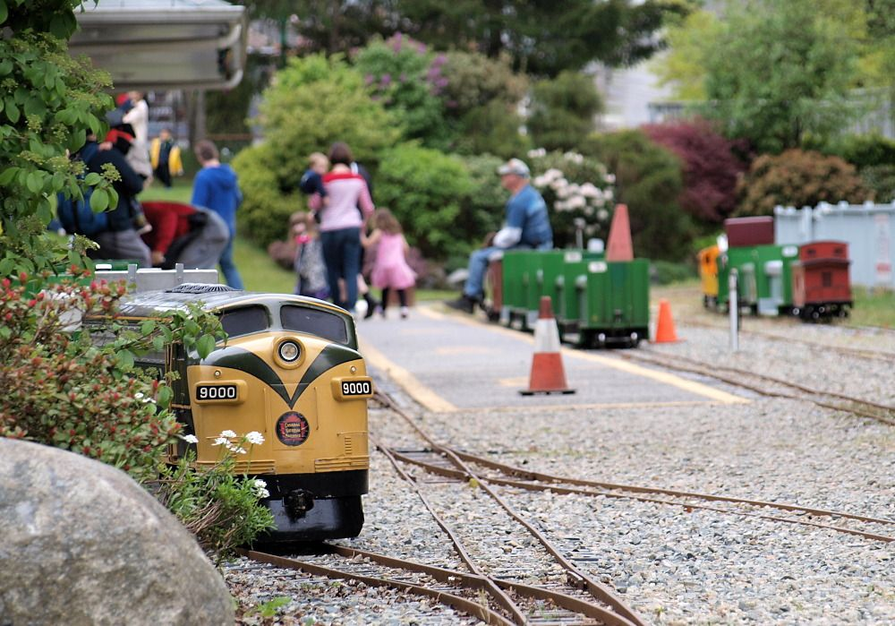 Model trains at Burnaby Central Railway