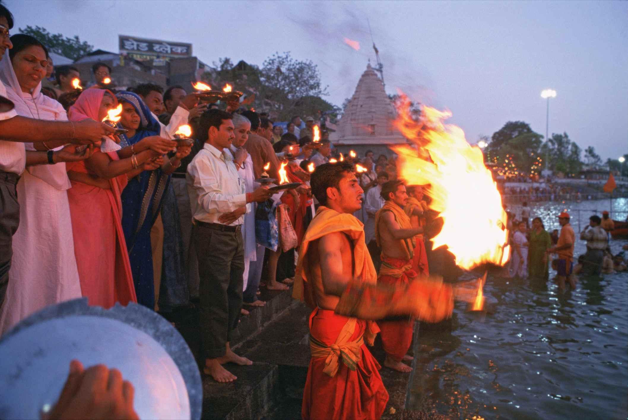 Aarti in Ujjain.